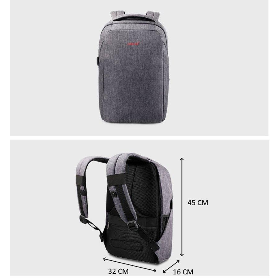 Anti-Diefstal Laptop rugzak 12,5 tot 16 inch - Grey - T-B3237-10