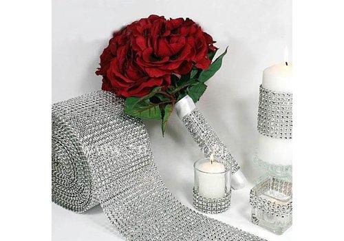 Diamanten 'Lint' - 60 cm. - Zilver -  Bruiloft Decoratie - DIY