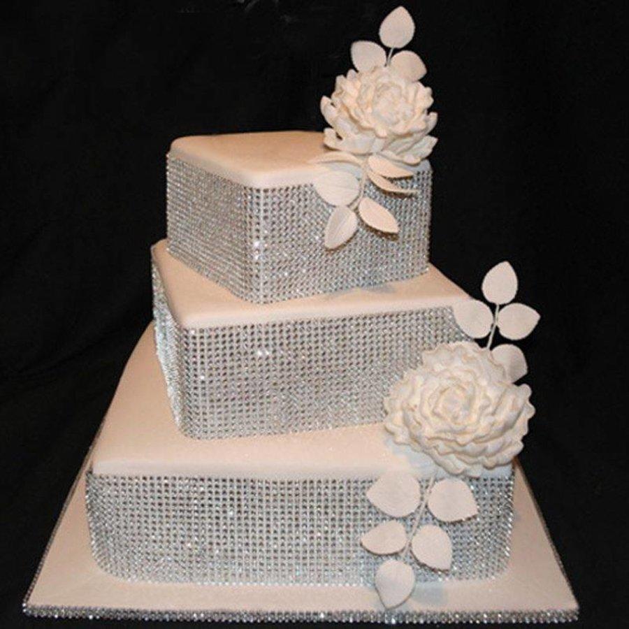 Diamanten 'Lint' - 60 cm. - Zilver -  Bruiloft Decoratie - DIY-2