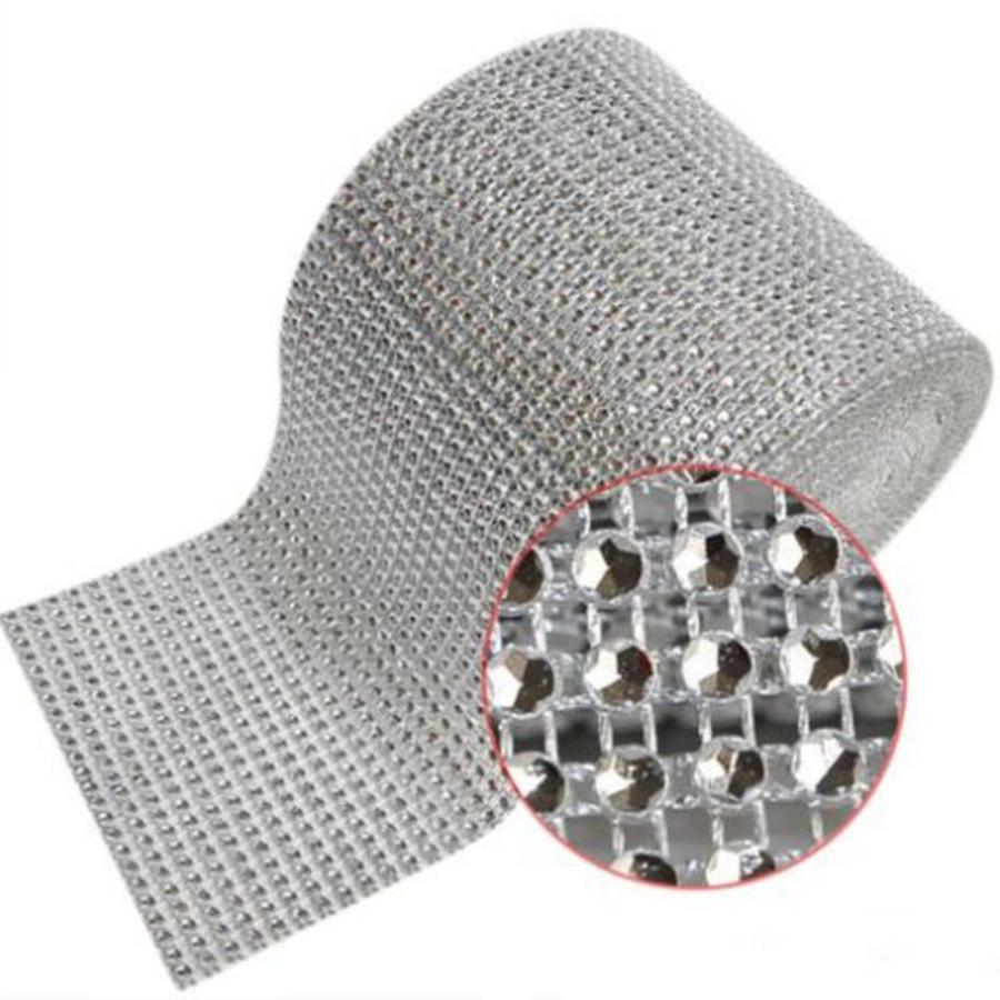 Diamanten 'Lint' - 60 cm. - Zilver -  Bruiloft Decoratie - DIY-3