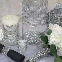 thumb-Diamanten 'Lint' - 60 cm. - Zilver -  Bruiloft Decoratie - DIY-4