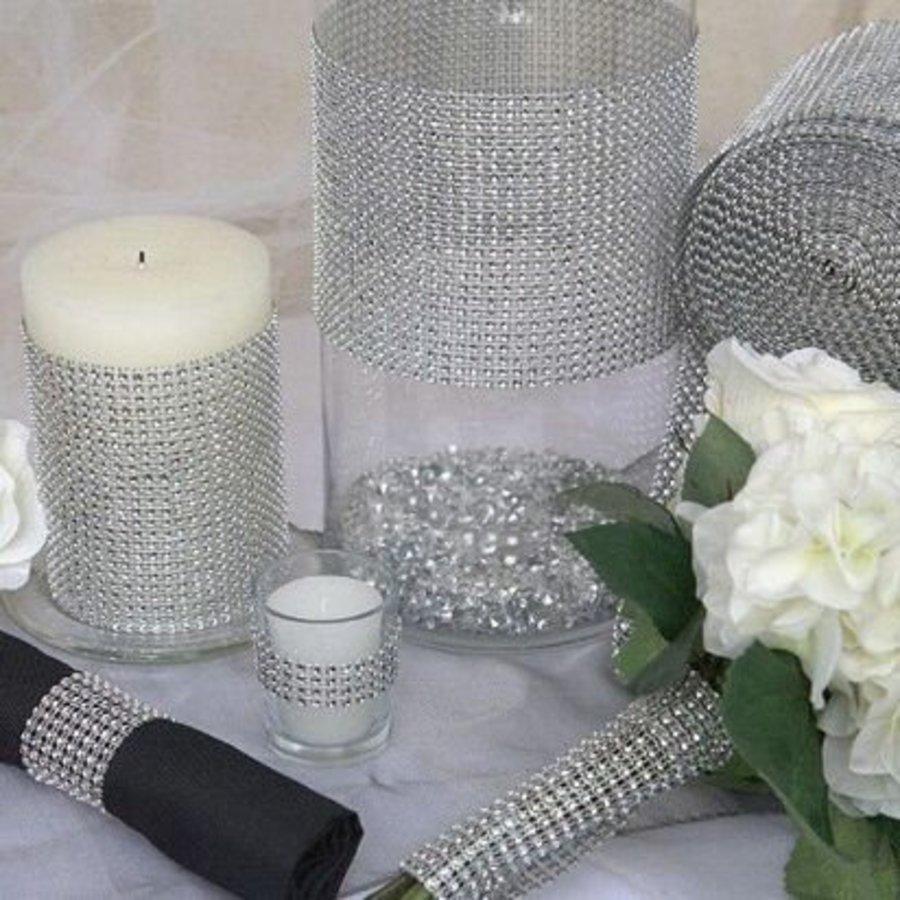 Diamanten 'Lint' - 60 cm. - Zilver -  Bruiloft Decoratie - DIY-4