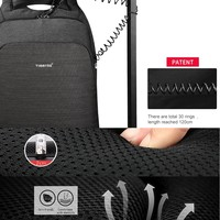 thumb-Anti-Diefstal Laptop rugzak 15, inch + Crossbodytas Black/Grey-7