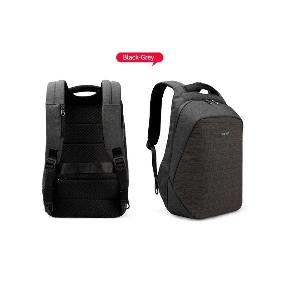 Tigernu - Anti-Diefstal Laptop rugzak 15, inch + Crossbodytas Grey-2