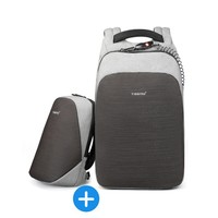 thumb-Tigernu - Anti-Diefstal Laptop rugzak 15, inch + Crossbodytas Grey-1