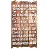 """BonTon BonTon - Houten Tekstplank / Tekstbord 55 x 30 cm """"Als mijn kinderen groot zijn..."""" - Kleur Naturel"""