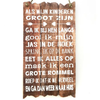 """BonTon Houten Tekstplank / Tekstbord 55x30cm """"Als mijn kinderen groot zijn..."""" - Kleur Naturel"""