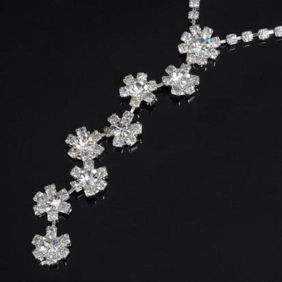 PaCaZa - Sieradenset Flower (Ketting & Oorbellen)-4