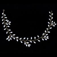 thumb-Prachtig Goudkleurig Haar Sieraad met Kristallen-5