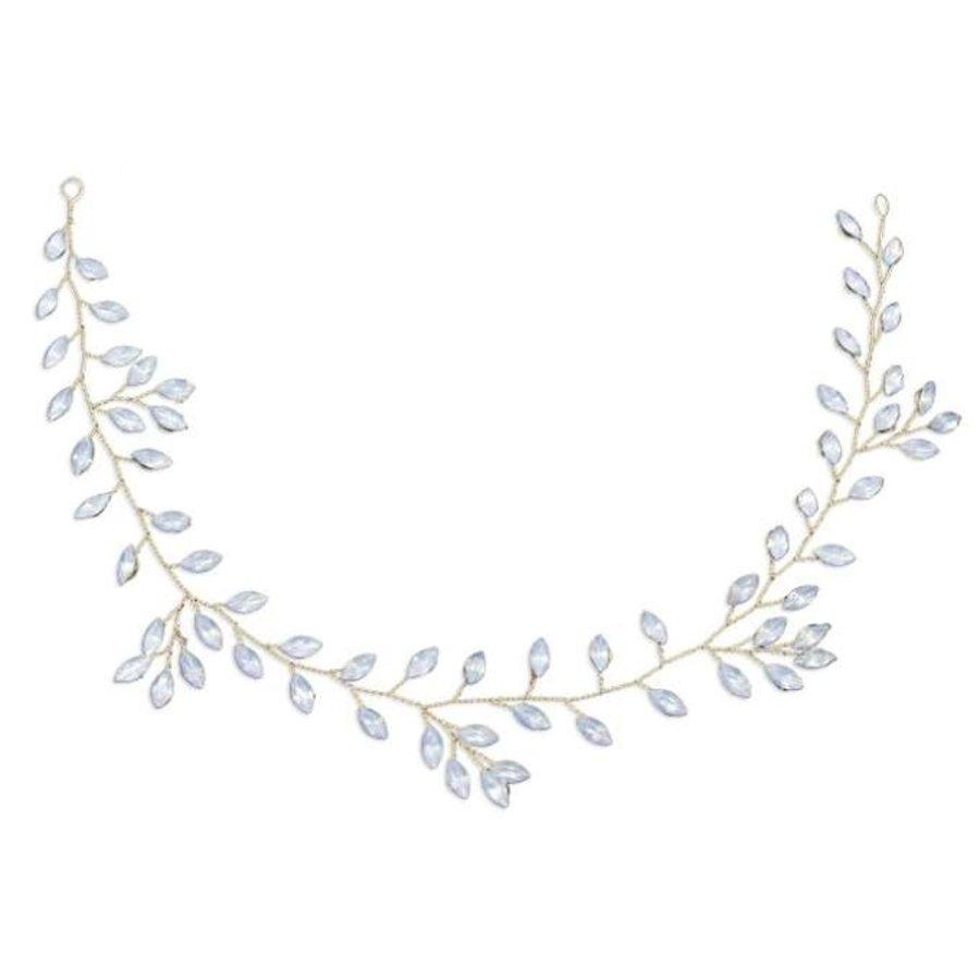 Prachtig Goudkleurig Haar Sieraad met Kristallen-10