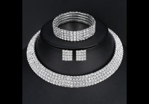 Sieraden Set Sparkle (Ketting & Oorbellen)