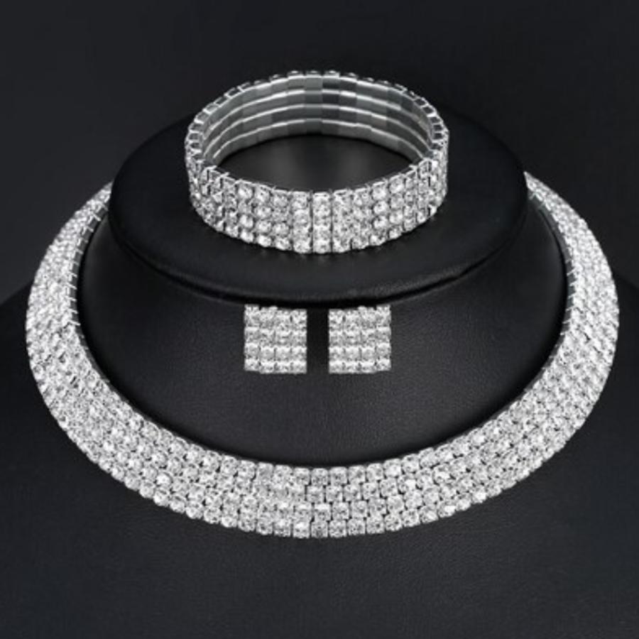 PaCaZa - Sieraden Set Sparkle (Ketting & Oorbellen)-1
