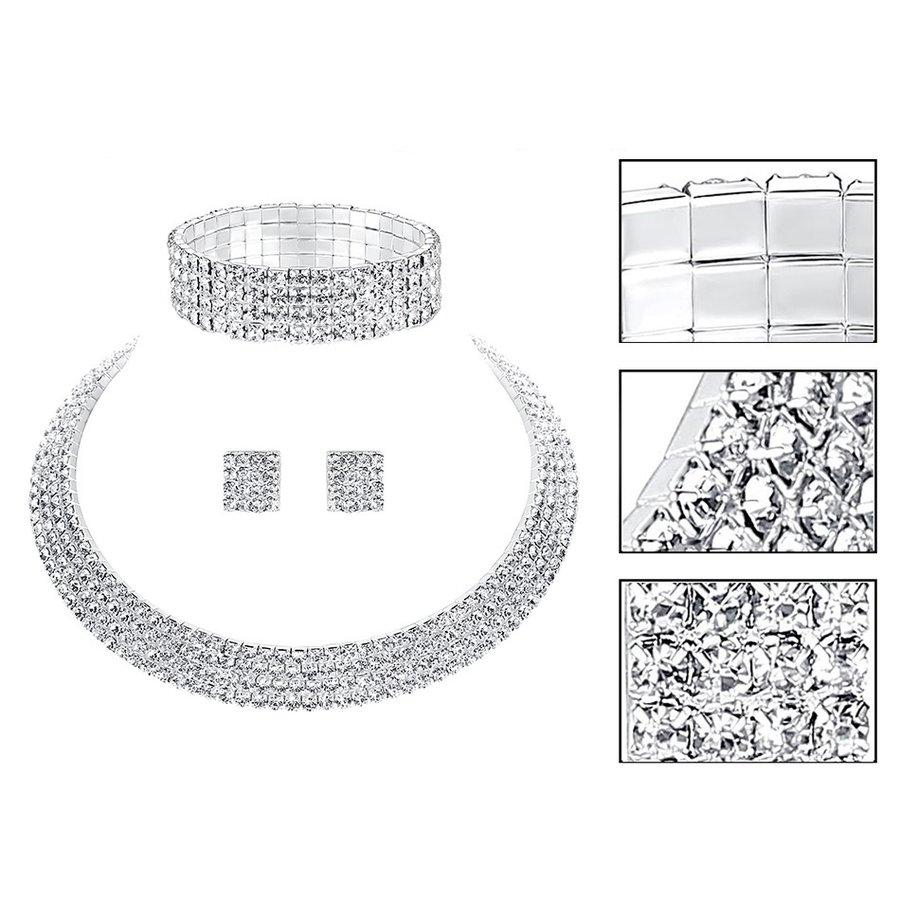 PaCaZa - Sieraden Set Sparkle (Ketting & Oorbellen)-3