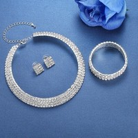 thumb-PaCaZa - Sieraden Set Sparkle (Ketting & Oorbellen)-4