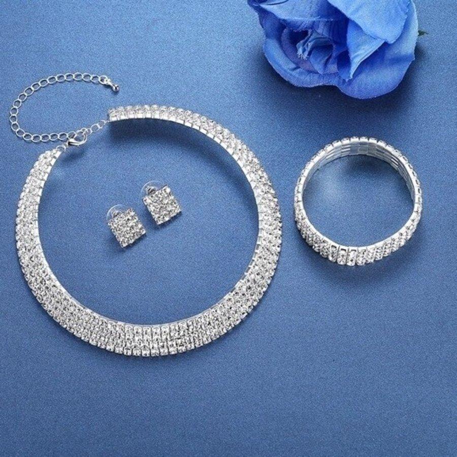 Sieraden Set Sparkle (Ketting & Oorbellen)-4
