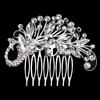 PaCaZa PaCaZa - Zilverkleurige Haarkam bezet met fonkelende kristallen