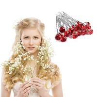 thumb-Zilverkleurige Hairpins met Rode Kristal - 4 Stuks-2