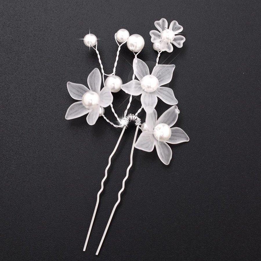 PaCaZa - Hairpins - Eye Catcher Flowers & Pearls - 2 Stuks-4