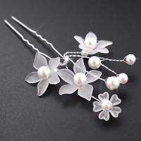 thumb-PaCaZa - Hairpins - Eye Catcher Flowers & Pearls - 2 Stuks-5