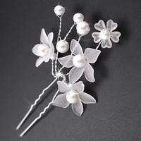 thumb-PaCaZa - Hairpins - Eye Catcher Flowers & Pearls - 2 Stuks-2