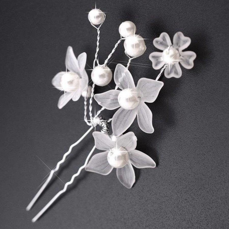 PaCaZa - Hairpins - Eye Catcher Flowers & Pearls - 2 Stuks-2