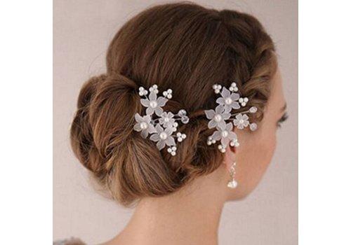 Hairpins - Eye Catcher Flowers & Pearls - 2 Stuks