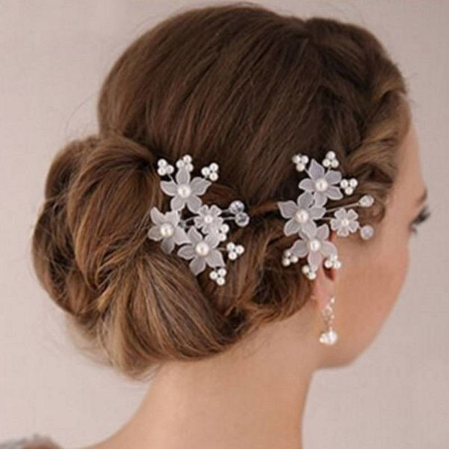 PaCaZa - Hairpins - Eye Catcher Flowers & Pearls - 2 Stuks-1