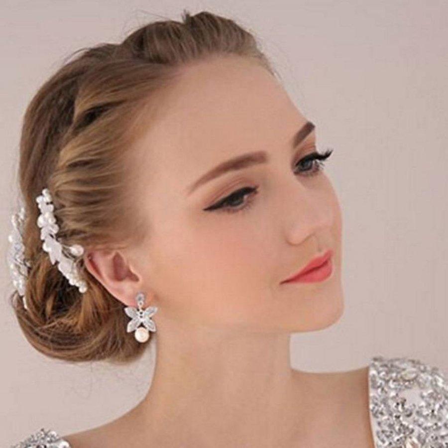 PaCaZa - Hairpins - Eye Catcher Flowers & Pearls - 2 Stuks-3