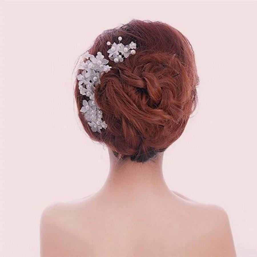 PaCaZa - Hairpins - Eye Catcher Flowers & Pearls - 2 Stuks-6