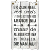 "BonTon BonTon - Houten Tekstplank / Tekstbord 55 x 30 cm ""Er zijn heel veel oma's..."" - Kleur Antique White"