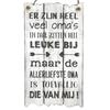 """BonTon Houten Tekstplank / Tekstbord 55x30cm """"Er zijn heel veel oma's..."""" - Kleur Antique White"""