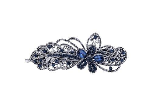 Chique Haarclip Flower  - Donker Blauw