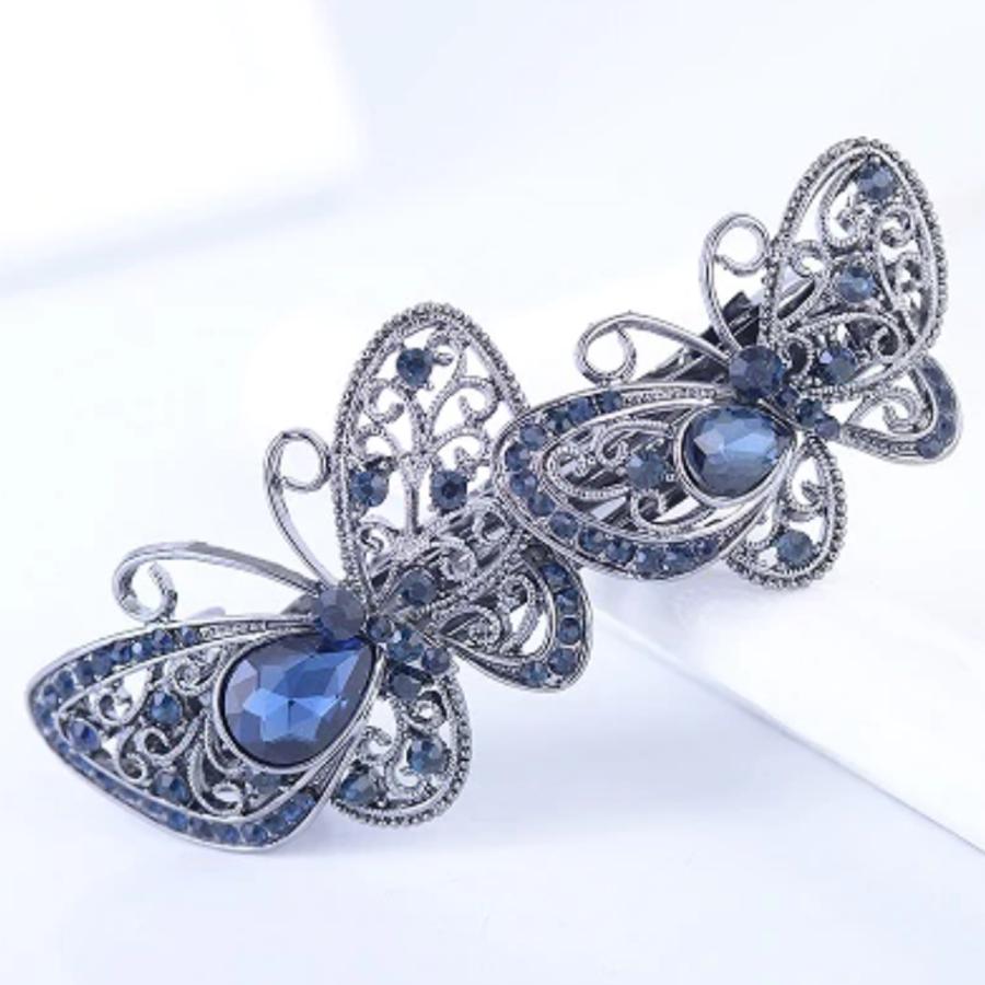 Chique Haarclip - Butterfly - Donker Blauw-1