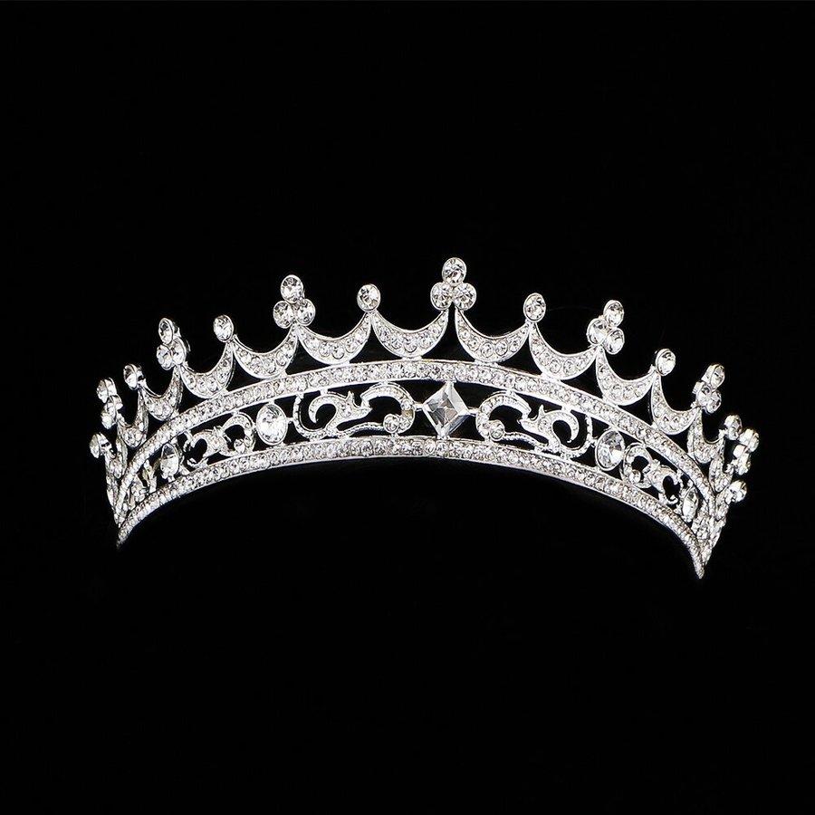 Elegante Kristallen Tiara / Kroon-5