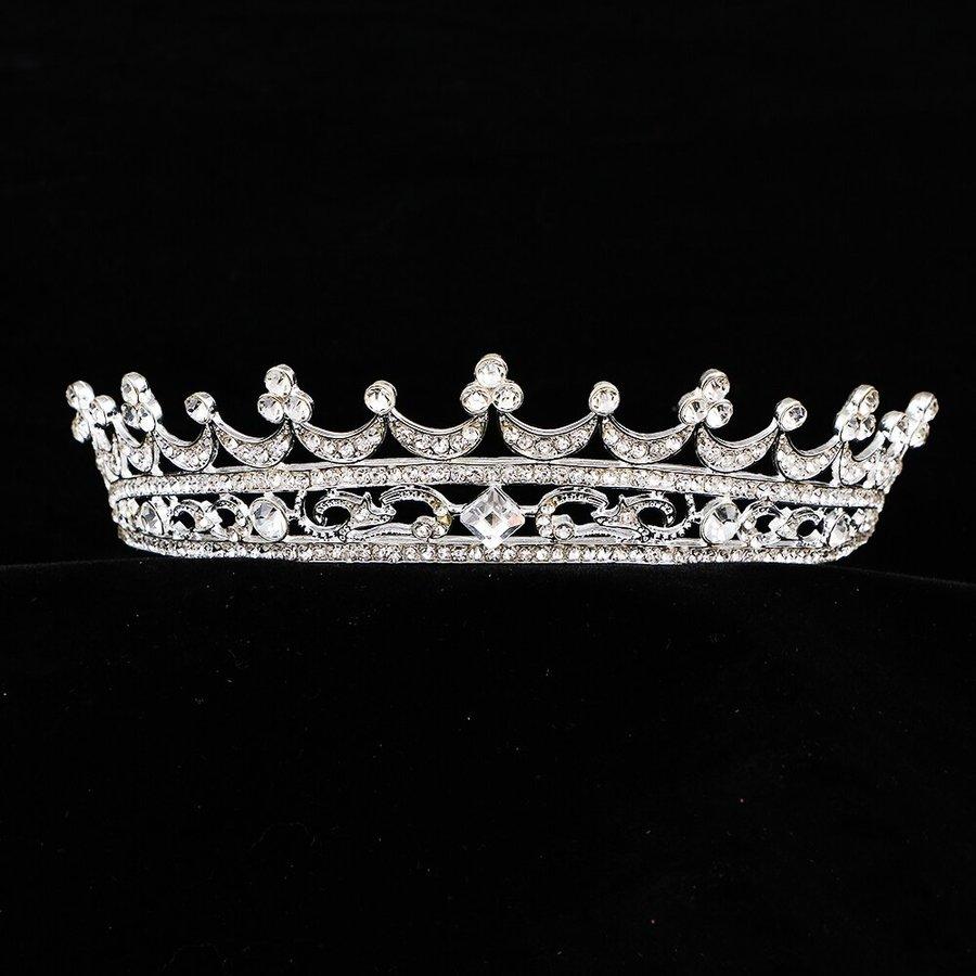 Elegante Kristallen Tiara / Kroon-2