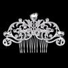 PaCaZa Chique Zilverkleurige Haarkam bezet met fonkelende Kristallen