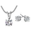 PaCaZa PaCaZa - Sieraden Set Diamond (Ketting & Oorbellen)