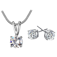 thumb-Sieraden Set Diamond (Ketting & Oorbellen)-1