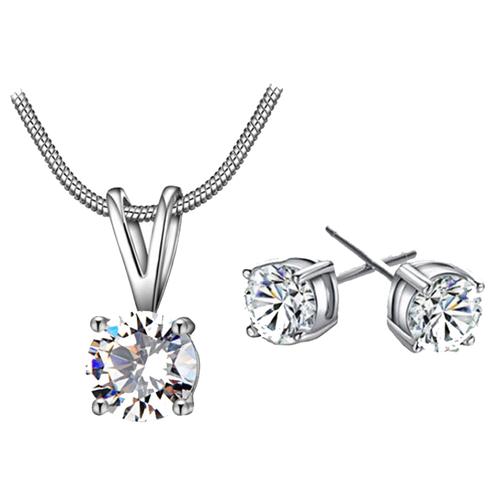 Sieraden Set Diamond (Ketting & Oorbellen)