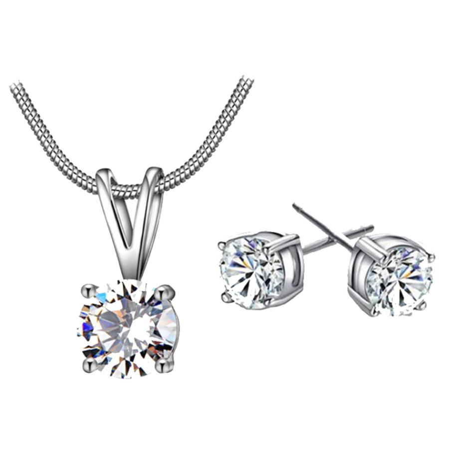 Sieraden Set Diamond (Ketting & Oorbellen)-1