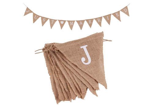 Just Married Jute Slinger - Bruiloft Decoratie