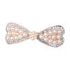 PaCaZa Haarclip met Ivoorkleurige Parels en Fonkelende Diamanten - Rosékleurig