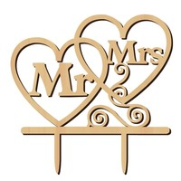 Taarttopper - Hearts - MR & MRS