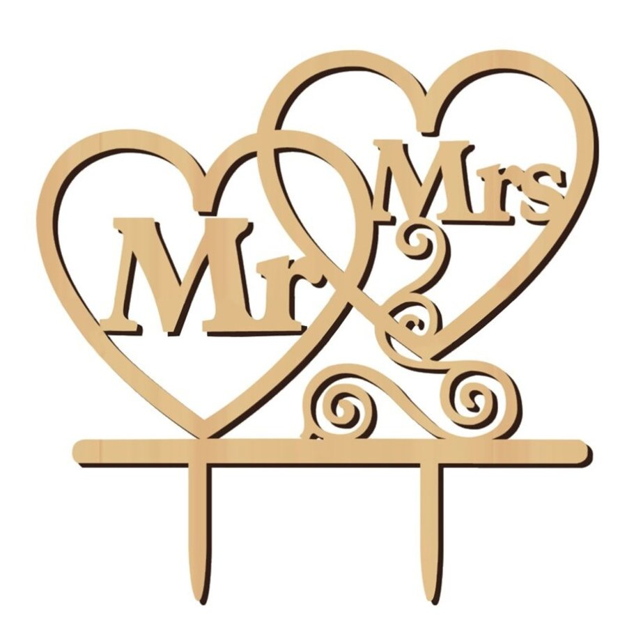 Taarttopper - Hearts - MR & MRS-1