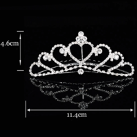 thumb-Elegante Tiara Kam met Fonkelende Kristallen-2