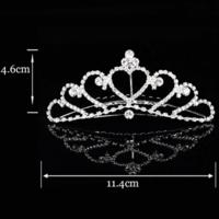 thumb-PaCaZa - Elegante Tiara Kam met Fonkelende Kristallen-2