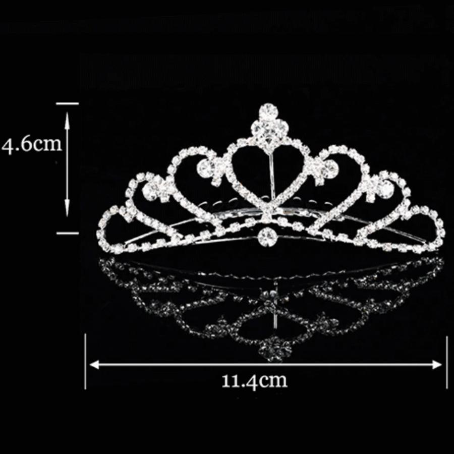 PaCaZa - Elegante Tiara Kam met Fonkelende Kristallen-2