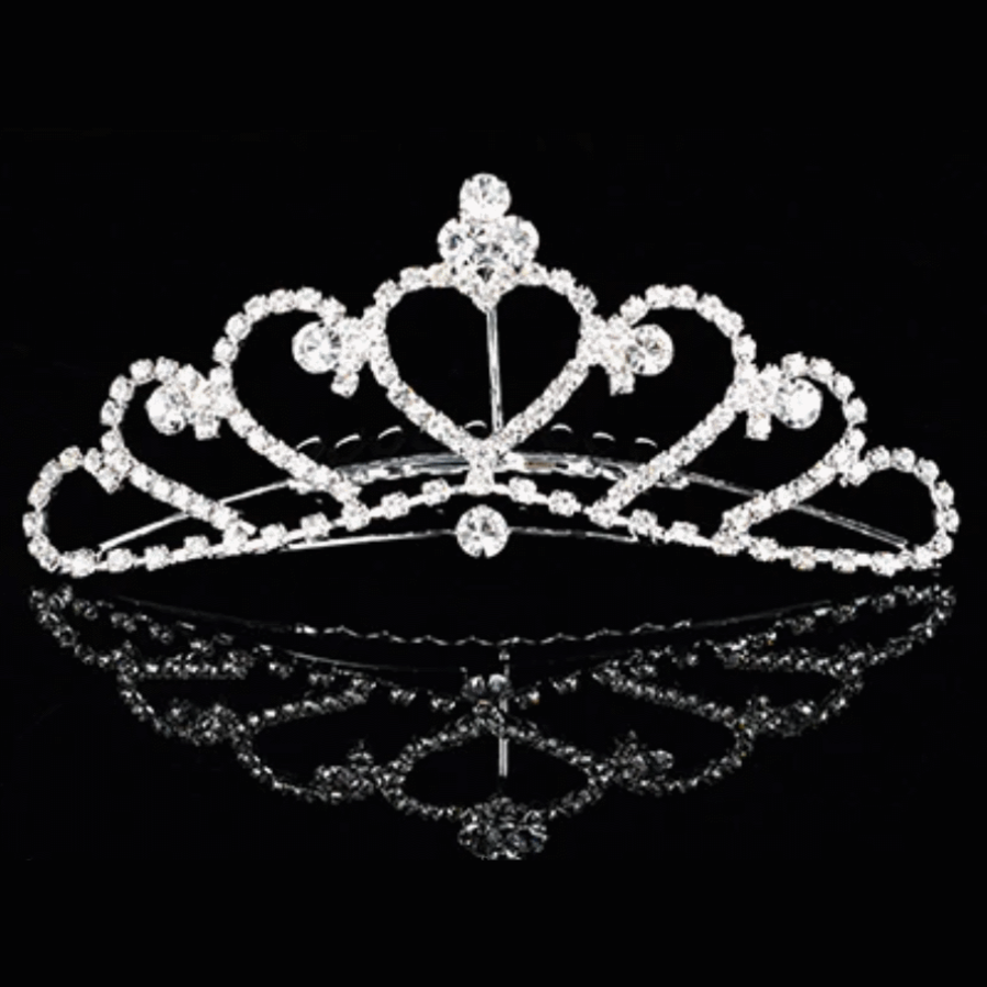 Elegante Tiara Kam met Fonkelende Kristallen-3