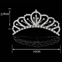 thumb-Chique Tiara Kam met Fonkelende Kristallen-2
