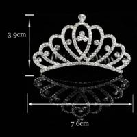 thumb-Stijlvolle Tiara Kam met Fonkelende Kristallen-2